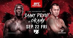 (MMA) UFC Fight Night 117: Saint Preux vs. Okami
