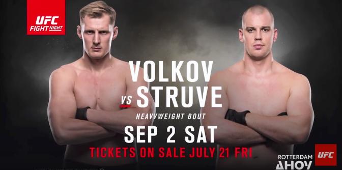 (MMA) UFC Fight Night: Volkov vs. Struve